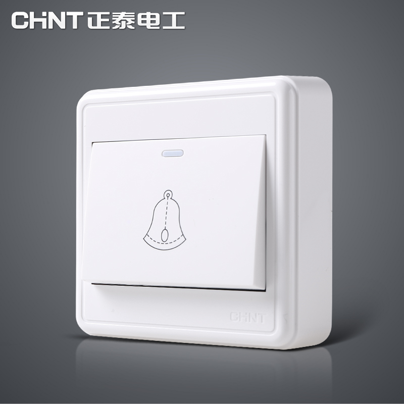 Chint wall switch NEW1C Surface mounted switch socket Surface mounted doorbell switch panel