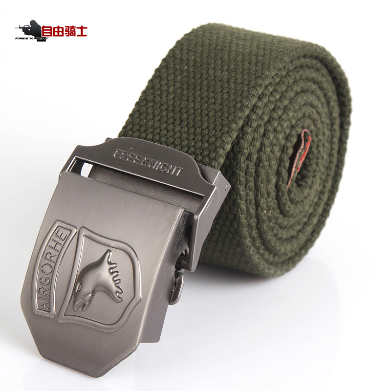 Freelance Outdoor Airborne Division Thicker Tactical Recreational Canvas Belt Multifunctional Belt and Belt Trendy Men