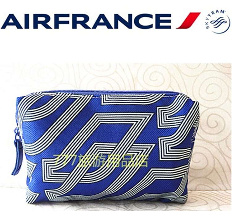 Air France Custom Toilet Washing Bag Storage Bag Cosmetic Bag Clutch