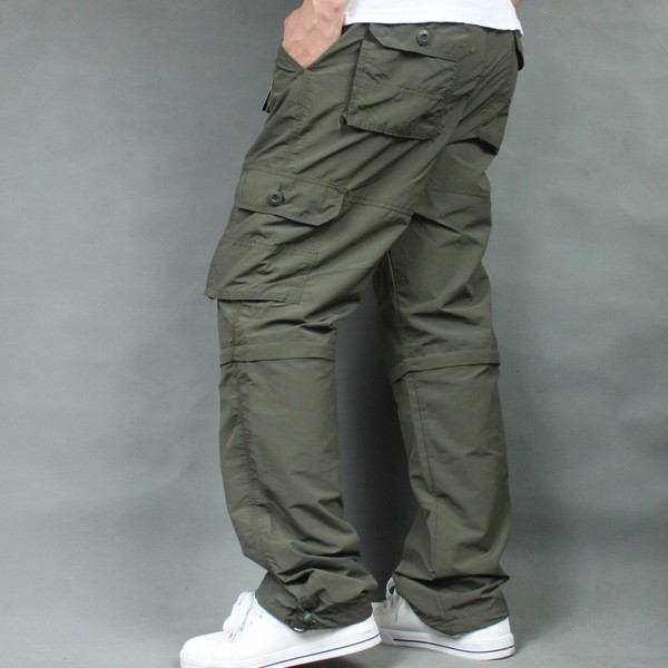Summer new outdoor casual pants men's overalls quick-drying pants detachable two sections of thin multi-pocket trousers