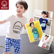 Excellent bayee children summer summer wear short sleeved T-shirt suit baby boy girl two piece baby clothes