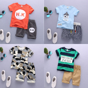 Kids Boys summer suit new baby infant clothes T-shirt set of two 01-2-3-4 years old