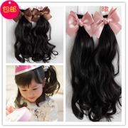 Korean cute children baby hair ornaments Hair Bow Hair Wig ponytail hairpin on the price