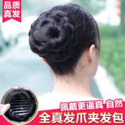 The wigs meatball head nine flower grip wig bag clip head hair hair ring flower bud