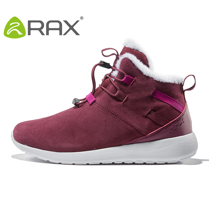 [The goods stop production and no stock]RAX autumn and winter outdoor snow boots men's warm winter shoes women's wear ski boots plus velvet snow shoes snow shoes