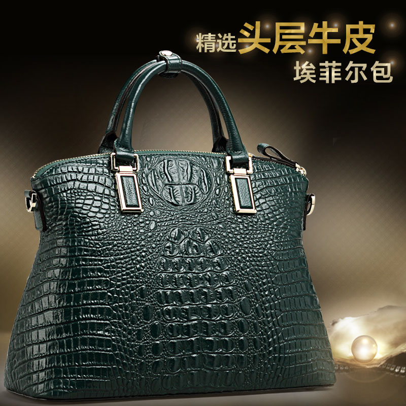 Flag King Crocodile Leather Female Bag 2018 New First Layer Leather Fashion Korean Handbag Ladies Bag Bag