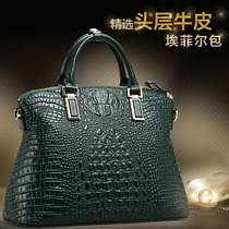 Flag King Crocodile-print Leather Bag 2019 New Fashion Atmospheric Brand Slant Handbag Lady's Bag