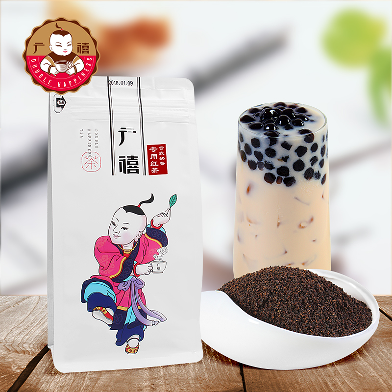 Guangyi desktop CTC black tea 500g pearl milk tea shop special raw materials Assam Ceylon tea with tea granules