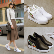 In the spring of 2017 the new Lok Fu shoes bottom women all-match muffin thick Korean sport white shoes