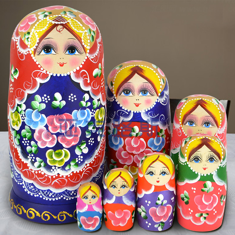 (YAKELUS) Akerlus Authentic Beech Original Genuine Gift Russia Matryoshka 7 Layer 0702