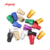 Air inflator nozzle turning to American nozzle French nozzle turning head Bicycle road dead-flying converter nozzle cap