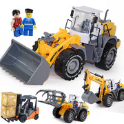 Large inertia engineering truck forklift truck excavator truck garbage sanitary car boy beach toy car