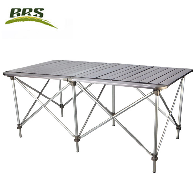 Brother BRS-z32 double-sided aluminum outdoor folding tables and chairs portable multi-person picnic table travel long table