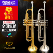 Authentic Jazz Lang professional students trumpet JZTR-300 instruments pure copper paint gold down B small musical instruments