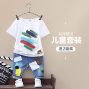 The boy summer suit 2017 new summer kids children in Korean children short sleeved two sets of 3-5-6 years old