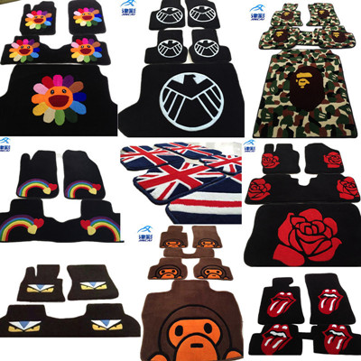 Full color carpet suitable for Volkswagen Toyota Mercedes-Benz BMW Hyundai Audi Customized Car Footpad Washable