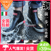 Rainshoes male short tube low boots shoes shoes and men's and women's water type non slip waterproof rubber overshoes of spring and summer fashion