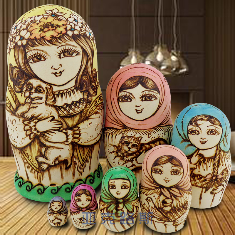 (YAKELUS) Akerlus authentic Alder genuine original gift Russian matryoshka 7 0711