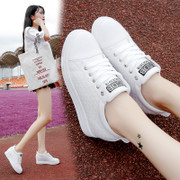 2017 summer autumn new all-match Korean white shoes increased white shoe female thick soled street shoes casual shoes