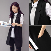 Spring and autumn and 2017 new Korean female suit vest slim sleeveless vest vest in the long spring coat lady