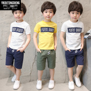 Kids Boys summer suit 2017 new 4 children 5 children 8 7 6 short sleeved summer Korean tide clothing 9 10