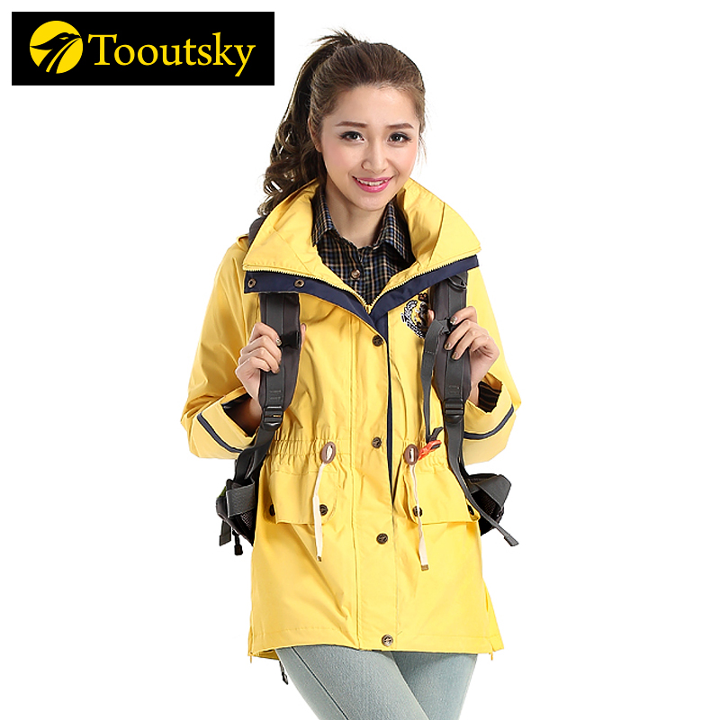 Spring and Autumn Single Layer Thin Tide Leisure Coat Waterproof and Breathable Long-style Outdoor Windshield Mountaineering Suit