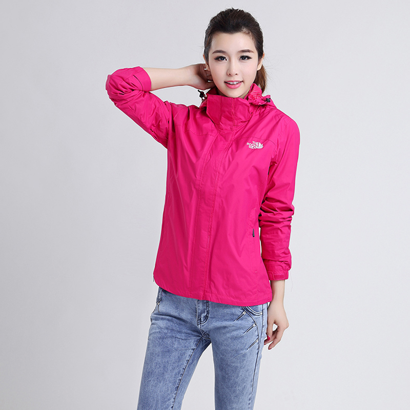 [The goods stop production and no stock]Spring and Autumn Polk authentic ladies outdoor jacket single layer windproof rain long sleeve jacket mountaineering clothing casual sports