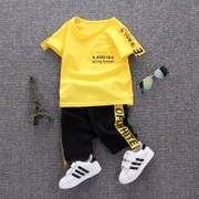 The boy set summer style 2017 0-1-2-3 years old baby clothes baby summer children 4 Korean tide