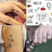 Cute Korean cartoon animation Meng Da tattoo stickers KL006 children funny lady trendsetter