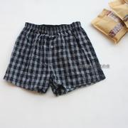 Our men's cotton pants boxer loose XL four angle Home Furnishing male short pants breathable underwear lattice