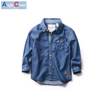Boys long sleeve shirt spring 2016 new kids baby cotton casual inch clothing tide shirt children Korean version