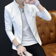 Men's leather clothing, spring, thin coat, men's fashion, spring and autumn jacket, New Youth