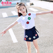 Big boy female child summer two set 2017 new Korean tide Children Summer girls leisure suit