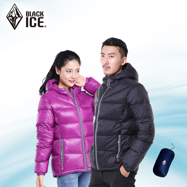 Black ice outdoor down jacket F8902 men and women couple models ski duvet jacket thickening thin warm F8952
