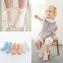 1-3 baby girls lace socks Princess socks cotton spring summer of newborn socks thin