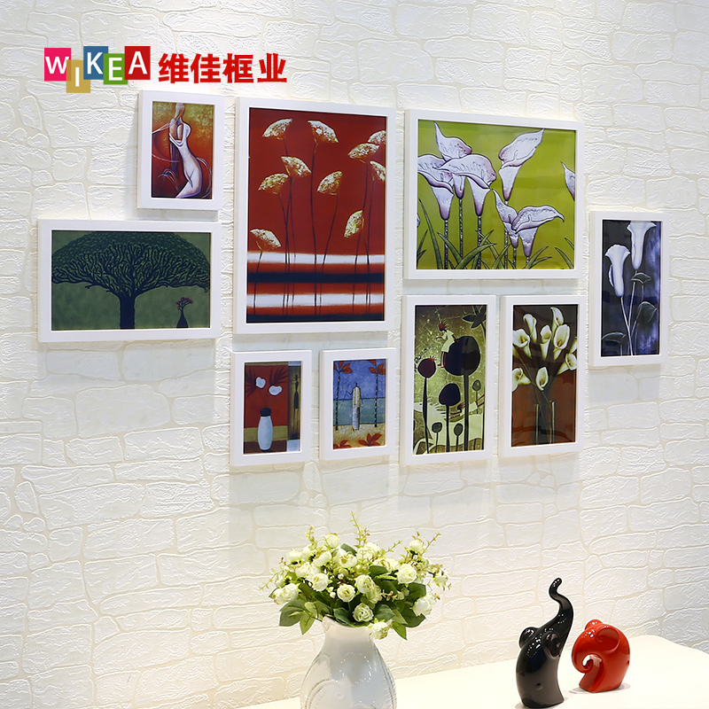 Viga Frame Industry Creative Large-Size Solid Wood Photo Wall-hanging Photo Frame Wall Living Room Large Wall Background Wall Combination