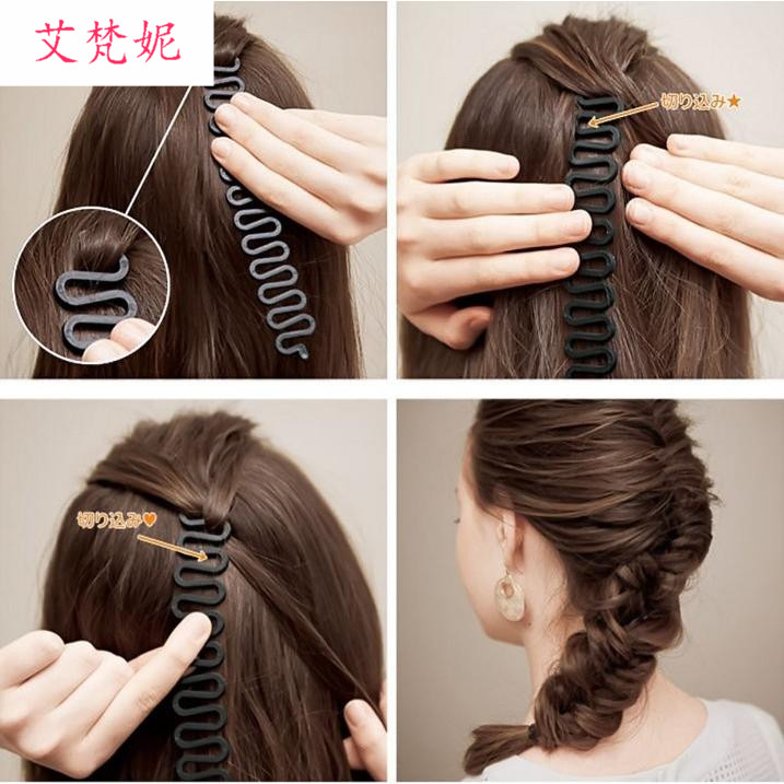 Hair styling with centipede braider and hairpin braider