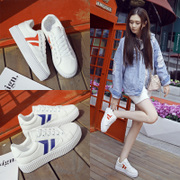 In the spring of 2017 new all-match white shoes soled Korean white canvas shoes casual shoes and flat shoes students
