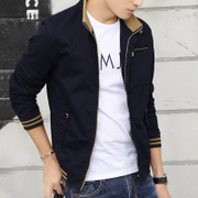 In the spring of 2017 new men's and young men's casual jacket coat gown slim Korean spring tide