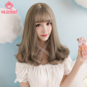 Seven street queen wig, big wave, long hair, curly air, fringe, pear head, sweet and lovely, natural and lifelike