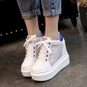 Thick bottom increased white shoe 2017 summer shoes all-match breathable mesh shoes casual shoes shoes Korean Students