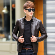Leather Men's leather jacket 2017 spring and Autumn Festival thin section of the new paragraph of the Korean version of the young man Pu men's coat tide