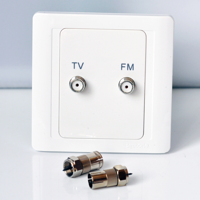 Simon Switch Jiajia 55 Series TV FM Fully Shielded Socket N55118
