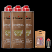 The sale of genuine leader CHIEF kerosene lighter oil universal quality fragrance smell fuel 133ml