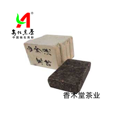 Hunan Anhua Black Tea Black Brick Tea Baishaxi Black Brick Tea 400G Anhua Yuntai Mountain Xiangmutang Tea Industry