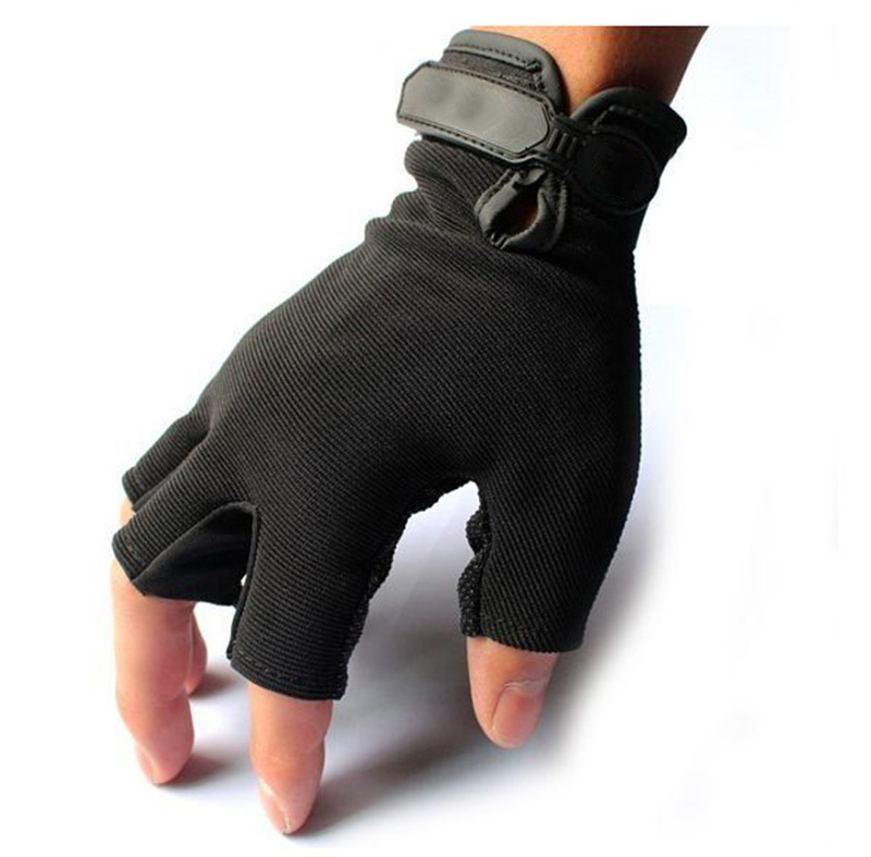 Men's Tactical Quick-Dry Special Forces'Quick-off Anti-skid Half-fingered Gloves for Outdoor Riding in Summer Operations at Lingying Base