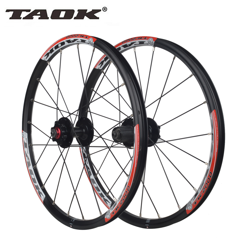 TAOK original 20 inch 406 small wheel folding bicycle disc brake wheel wheel hub area