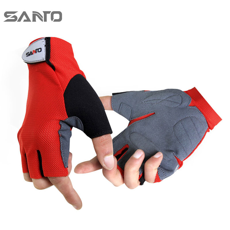 Mountain top outdoor quick-drying non-slip half finger gloves hiking riding gloves camping fishing gloves male G-07