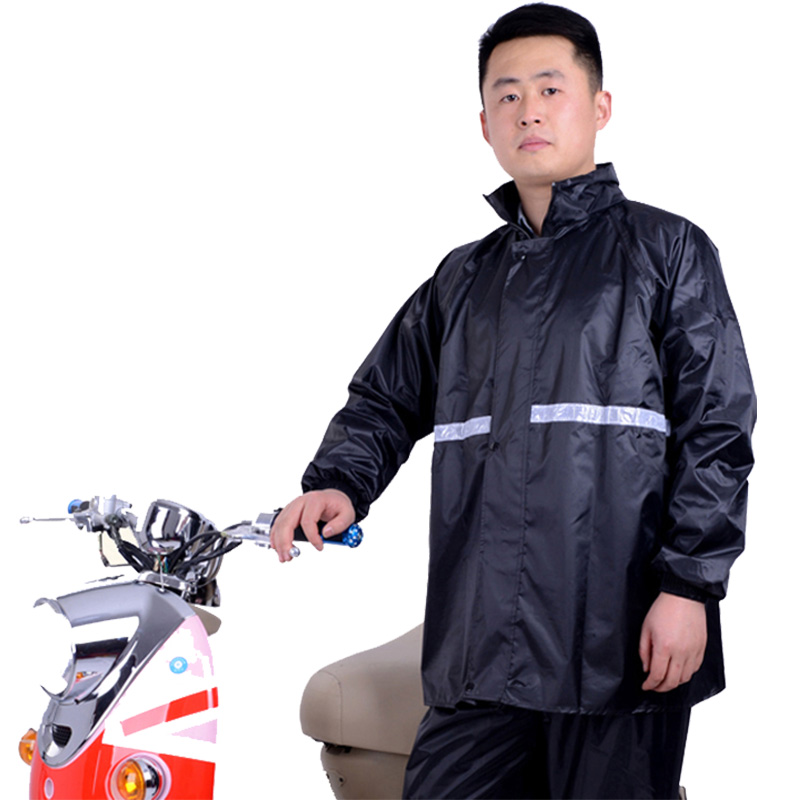 Rainwear and rainpants suit bicycle electric motorcycle raincoat for men and women single adult waterproof split raincoat