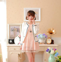 Mori girl 2014 new Korean bows cute sweet and mixed colors in autumn slim casual suit jacket and tide